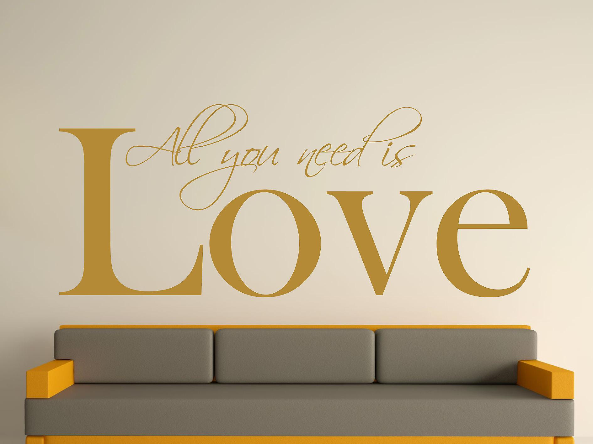 All You Need Art Wall Sticker - Gold