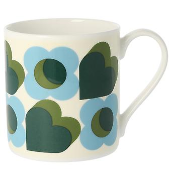 Orla Kiely Large Hearts Green Mug