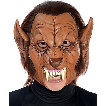 Lupo mannaro 3/4 maschera in lattice per Halloween