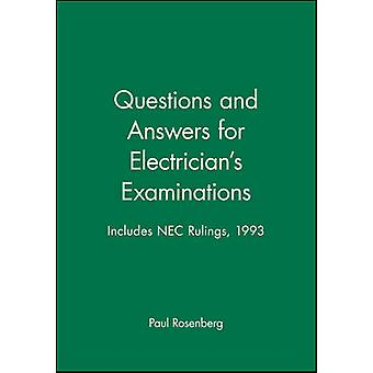 Questions and Answers for Electricians Examinations Includes NEC Rulings 1993 by Rosenberg & Paul