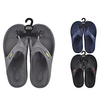 Mens EVA Flip Flops Size 7 - 1 Pair Assorted Colours