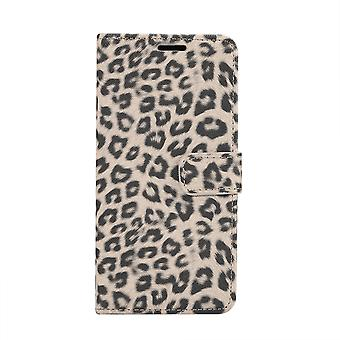 Samsung Galaxy S10 Brieftasche Cover Case Leopard-Beige
