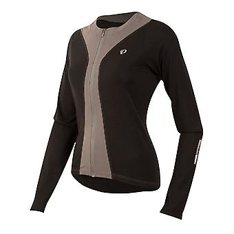 Pearl Izumi Black-Smoked Pearl Select Pursuit Womens Long Sleeved Cycling Jersey