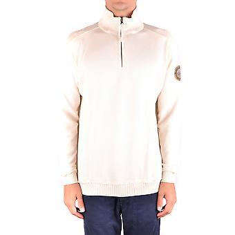 Napapijri White Cotton Sweater