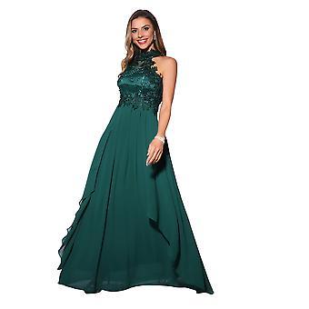 KRISP Lace halterneck Maxi kjole