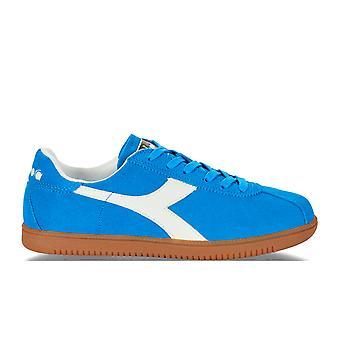 Diadora Light Blue Suede Sneakers