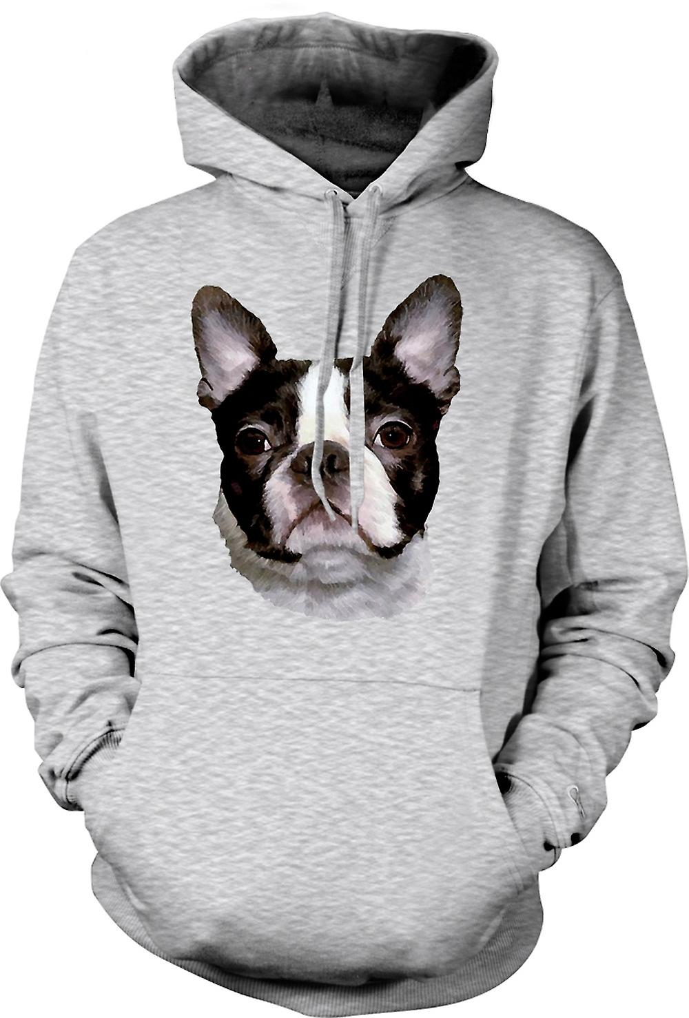 Mens Hoodie - Boston Terrier Pet - Dog
