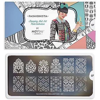 MoYou London Nail Art Image Plate - Fashionista 07 (MPFAS07)