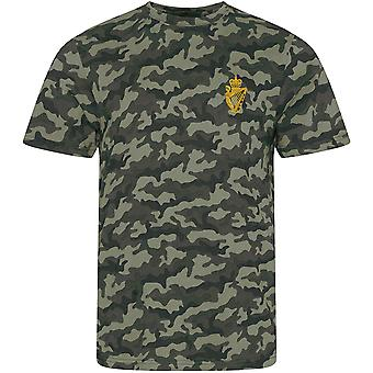 UDR Ulster Defense Regiment - Licensed British Army Embroidered Camouflage Print T-Shirt