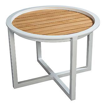 Flughafen7 | QUEENS LOUNGE TABLE TEAK 60CM |  Weiß | Gartentische