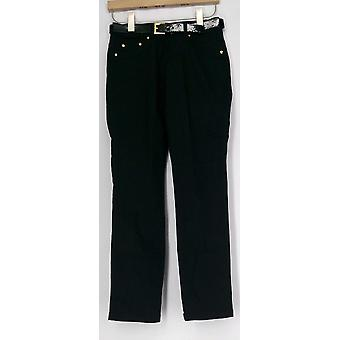 Iman pantalones perfect Fit Cinturón incluido pull On Jet Black Womens 363-178