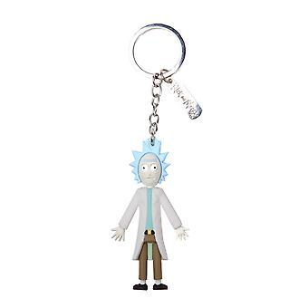 Rick en Morty Keyring sleutelhanger 3D Rick wriggity vergaan officiële blauwe Rubber