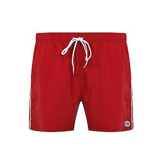 D555 Rød Full lengde svømme kort