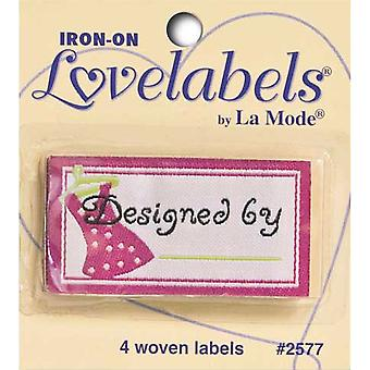 Iron On Lovelabels 4 Pkg Designed By Pink 2500 2577