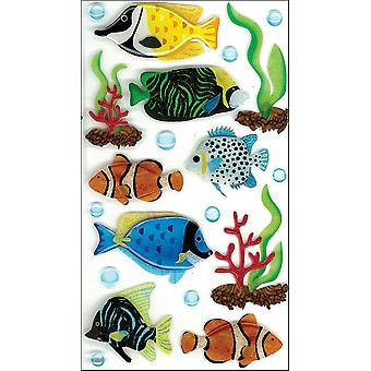 Jolee's Boutique Le Grande Dimensional Sticker Tropical Fish Large E5050285