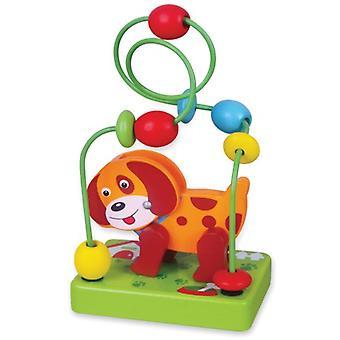 Kralenframe mini New Classic Toys: hond 10x16x7 cm