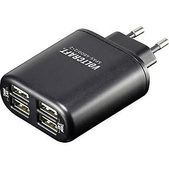 USB charger Mains socket VOLTCRAFT SPAS-4800/2+2 Max. output current 4800 mA 4 x USB