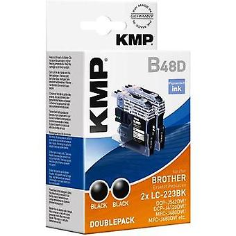 KMP Ink set replaced Brother LC-223BK Compatible Pack of 2 Black 1529,0021