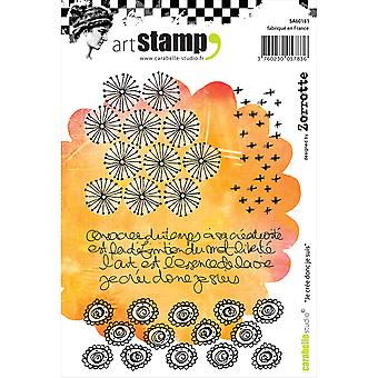 Carabelle Studio Cling Stamp A6-I Create So I Am  SA60181