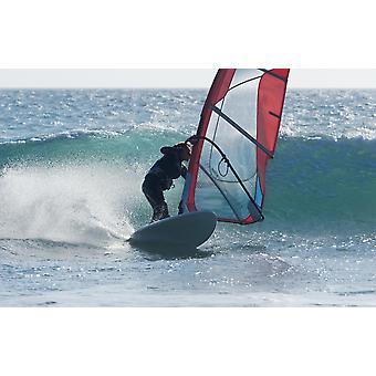 Windsurf a Tarifa Cadice Andalusia Spagna PosterPrint