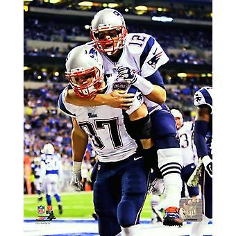 Tom Brady & Rob Gronkowski 2014 Action Photo Print