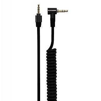 4.2 mm Coiled kabel med 3,5 mm Twist Lock stik sort