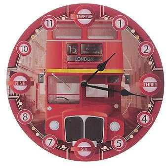 Wall Clock-Double Decker Londra