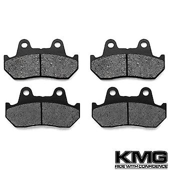 KMG 1981-1982 Honda GL 500 I Silverwing Interstate Front Non-Metallic Organic NAO Disc Brake Pads Set