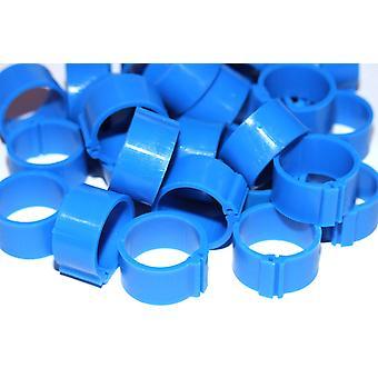 Clic ben Ring For måned gamle duer blå 8mm 100pack