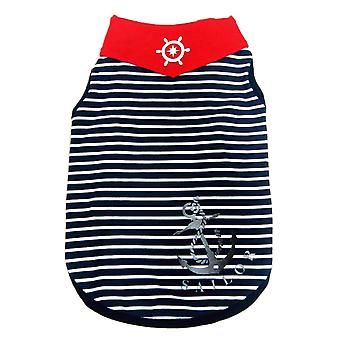 Happy Puppy Blue Striped Sailor Tank Extra Small