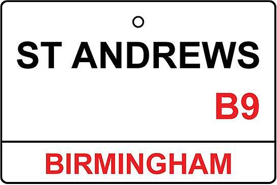 Birmingham City / St Andrews Street Sign Car Air Freshener