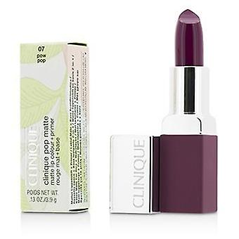 Clinique Pop Matte Lip Colour + Primer - # 07 Pow Pop - 3.9g/0.13oz