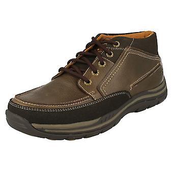 Skechers męskie skórzane zrelaksowany pasuje pianka spaceru kostkę buty Cason