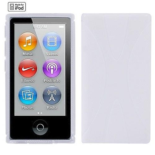 Silicone cover x-line white for Apple iPod nano 7