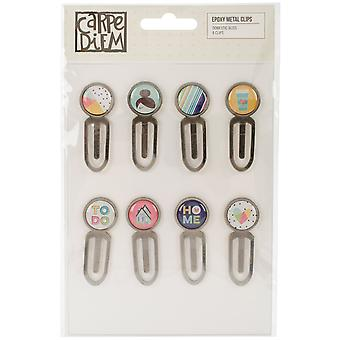 Domestic Bliss Epoxy Top Metal Clips 8/Pkg-  DOM7819