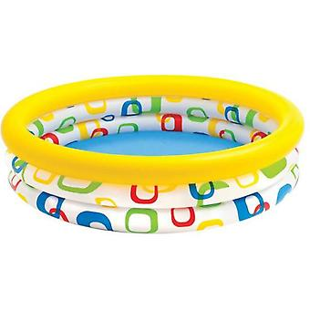 Colorbaby Inflatable pool 3 square hoops - 288l (Tuin , Zwembaden , Zwembaden)