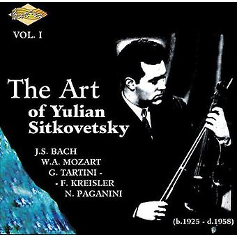 Yulian Sitkovetsky - The Art af Yulian Sitkovetsky, Vol. 1 [CD] USA importerer