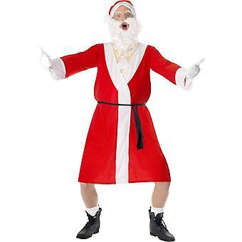 Santakostüm Nackter Nikolaus Stripper Santa Kostüm Bademantel Gr M
