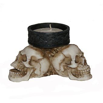Celtic Skull Triad  Tlight Holer
