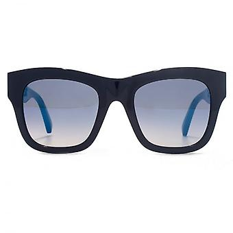 Stella McCartney Falabella Chain Temple Detail Sunglasses In Blue