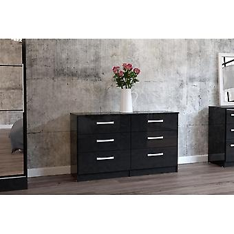 Birlea Lynx 6 Drawer Chest Black