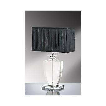 Luis Collection Liona Clear Crystal Trophy Table Lamp