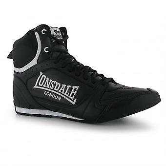 Lonsdale Bout Leather Boxing Boots - Black