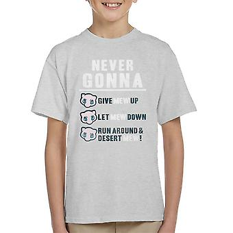 Never Gonna Give Mew Up Pokemon Kid's T-Shirt