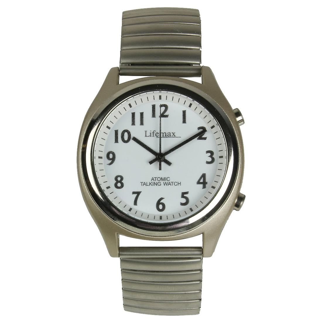 Talking Atomic Watch - Gents Expandable Bracelet