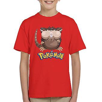 Alola Raticate Pokemon Sun Moon Kid's T-Shirt