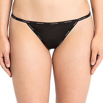 Calvin Klein Women SHEER MARQ Thong, Black, L