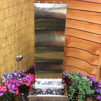 Westbury Small Stainless Steel Wave Cascade Water Feature