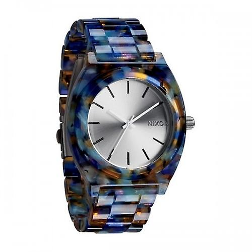 Nixon Watercolour The Time Teller Acetate Watch - Blue