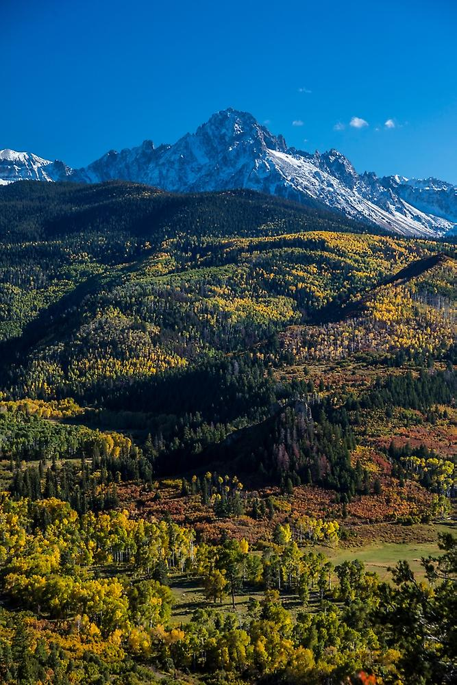 Double RL Ranch near Ridgway Couleurado USA with the Sneffels Range in the San Juan Mountains Poster Print by Panoramic Images (36 x 24)